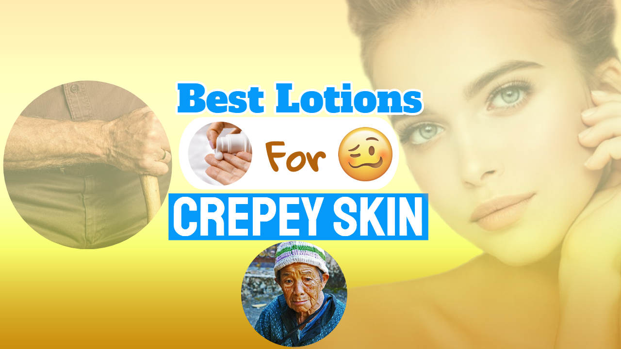 "Image with text: ""best lotions crepey skin on arms""."