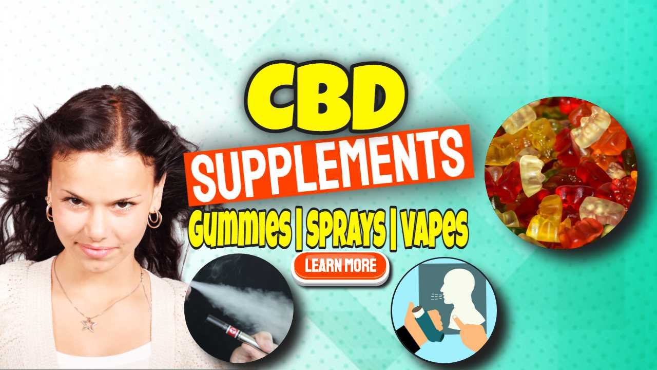"""Featured image text: """"CBD Supplements""""."""